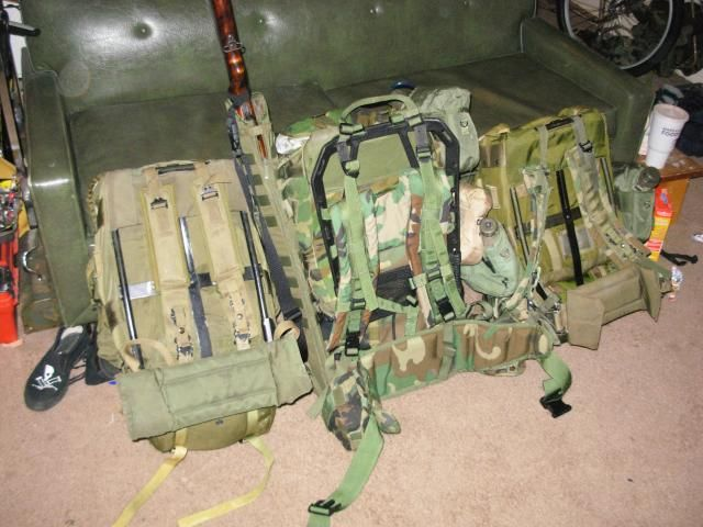 how to put molle gear on alice pack