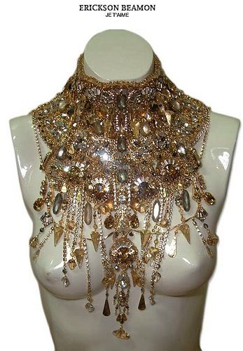 I think this is called a statement necklace.