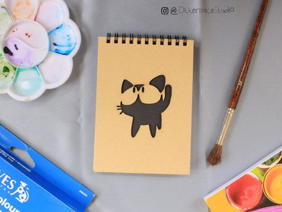 Studio Ghibli Theme Notebook  Jiji Spiral by OtterspaceStudio