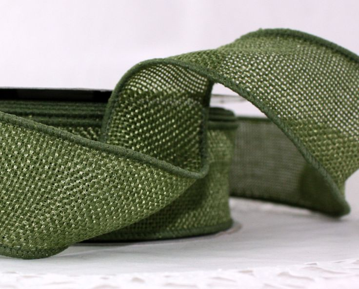 "Wired Olive Green Faux Burlap Ribbon 1.5"" wide Ribbon by the yard Wreaths, Weddings, Bows, Crafts, Gift Wrap, Sewing, No Shed, Burlap by ThePaperSandbox on Etsy https://www.etsy.com/listing/162681655/wired-olive-green-faux-burlap-ribbon-15"