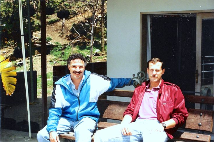 "DEA agents Javier Pena and Steve Murphy - the men depicted in ""Narcos"" - who helped bring down Pablo Escobar (early 1990s)."