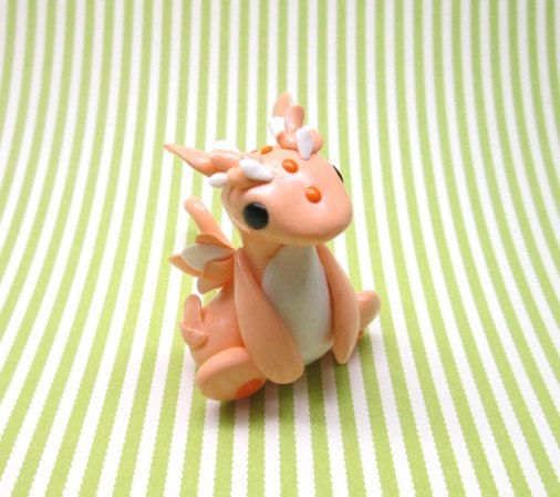 Peachy Dragon by KriannaCrafts on Etsy