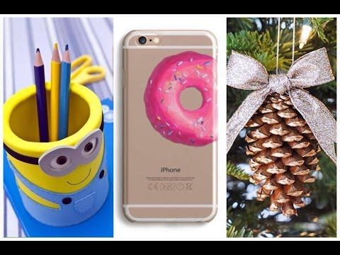 5 DIY Winter Phone Cases – How To Make Cute Phone Cases For Winter - YouTube