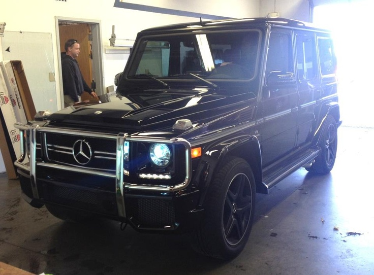 Mercedes g36 fitted with paint protection film and window for Mercedes benz g36