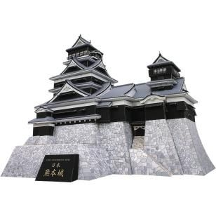 Japan Schloss Kumamoto,Architektur,Papiermodelle,Asien / Ozeanien,Japan,schwarz,Burg,Gebaeude