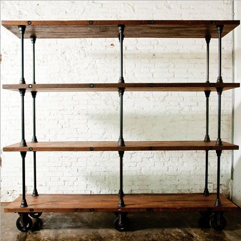 V16 4 Tier Shelving Unit In Reclaimed WOod HGDA135 From Nuevo Living (
