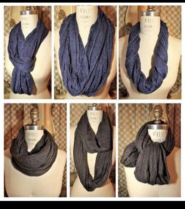 how to wear a long infinity scarf