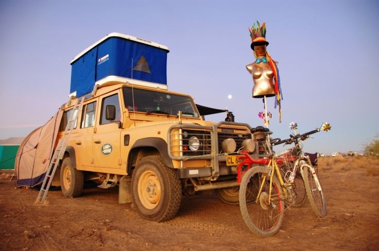 Phil Uys and his Landi at Africa Burn. See the June issue of SA4x4 Magazine for full details.