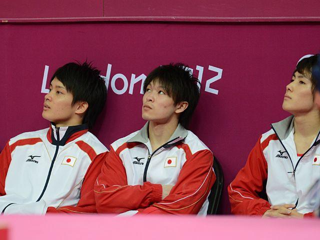 Gymnastic athletes of Japan at London Olympic.@王者・中国と日本は何が違うのか?体操男子団体の敗因から徹底分析。(1/3) - Number Web : ナンバー