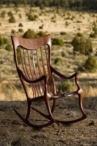Custom Made Bubinga Shangrila Ii Rocking Chair