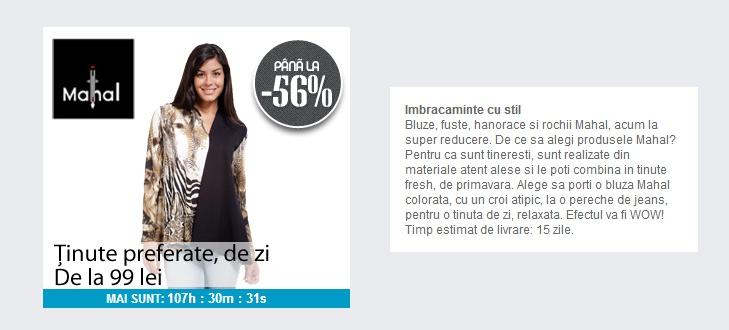 Pana la 50% reducere la imbracamintea de zi | Zgarciti.ro