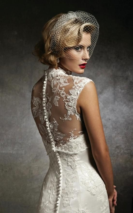 image of Justin Alexander Sleeveless Lace Wedding Dress