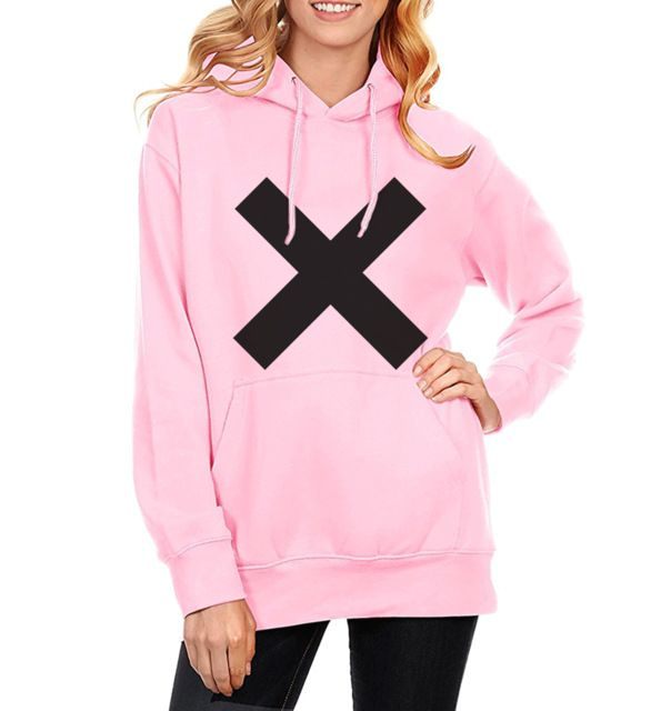 X Cross Print Hoody For Women Sweatshirts Hot 2017 Spring Winter Sweatshirt Fleece Hoodies Female Kawaii Kpop Clothes Sportswear #Brand #HAMPSON LANQE #sweaters #women_clothing #stylish_dresses #style #fashion