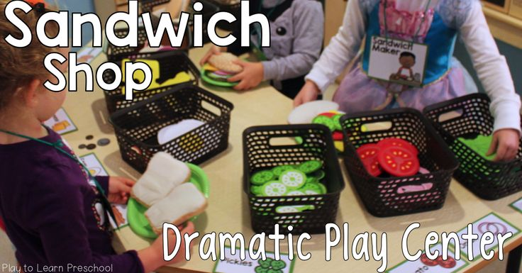 Make sandwiches and subs at this adorable Sandwich Shop Dramatic Play Center!