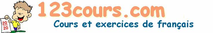 123cours.com, cours gratuit de français, grammaire, conjugaison, orthographe, vocabulaire, exercices en ligne corrigés