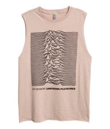 Printed vest top | Beige | Ladies | H&M IL