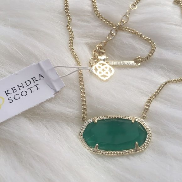 """Kendra Scott 'Dylan' Necklace Add a splash of color to your look with this gorgeous necklace! 14K gold plate over brass. Lobster claw clasp. Adjustable 16"""" chain with 2"""" extender. Pendant measures 1""""W X 5/8""""L Kendra Scott Jewelry Necklaces"""