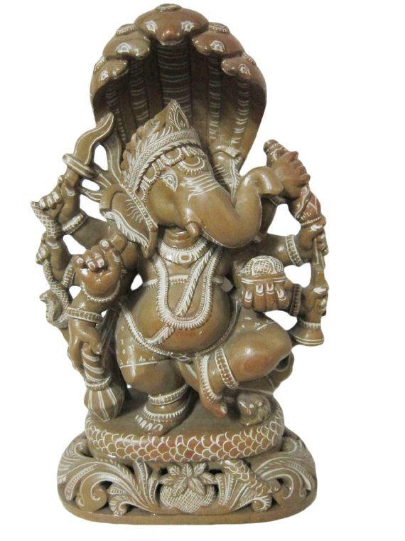 Dancing Ganesha Spiritual Stone Sculpture Yoga by MOGULGALLERY