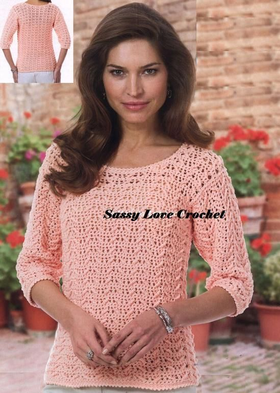 Georgia Peach Top :Small-5X via Craftsy