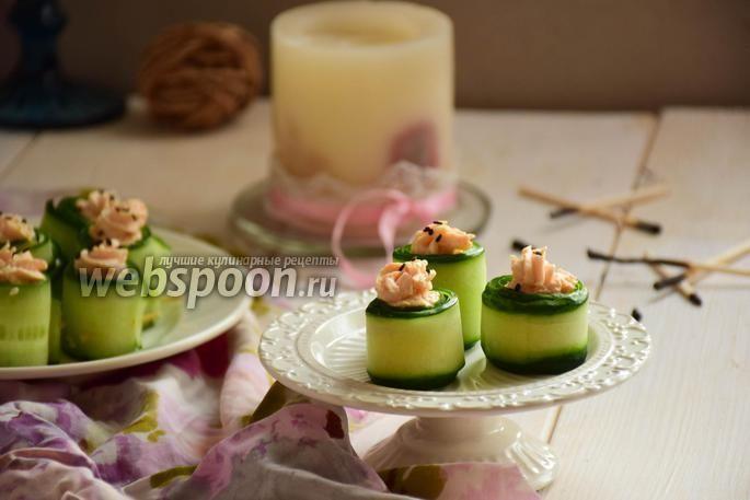 Фото Огуречные роллы с креветками