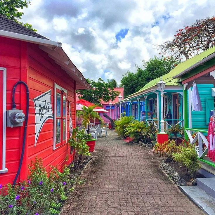Mystery Morning: Can you tell us where these beautifully painted chattel houses are located in Barbados?