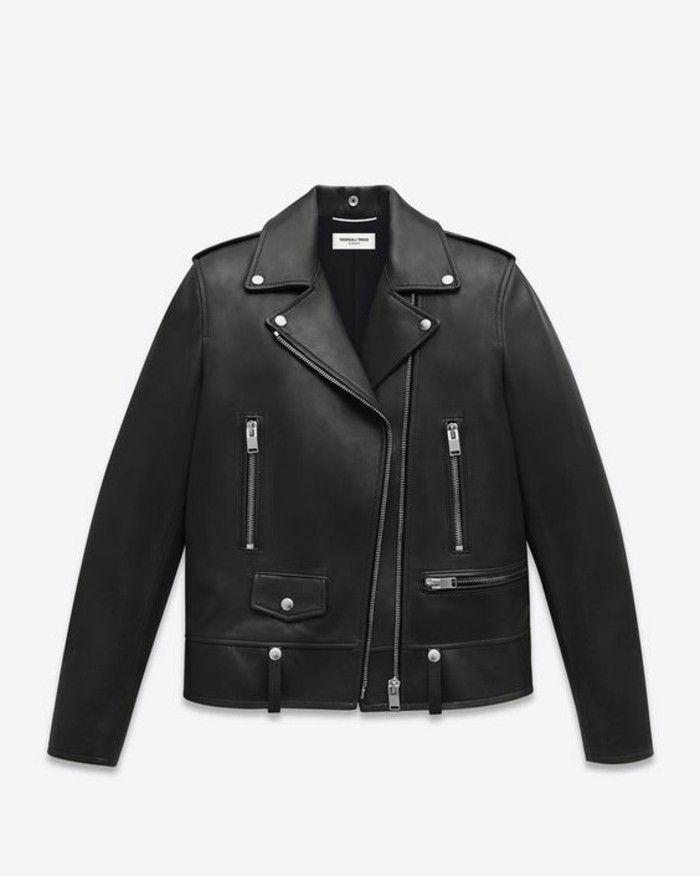 blouson bombers en cuir noir tendances da la mode homme pas cher