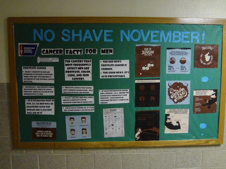 No Shave November Bulliten Board #MensHealth #Movember #NoShaveNovember #CancerAwareness #Beard #FacialHair