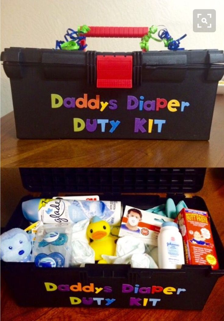 WHAT TO PUT N DADDY TO BE'S TOOL KIT