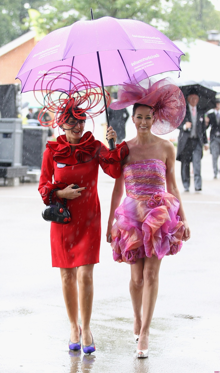 Wildest Hats of Royal Ascot  Women wear their wildest hats as they attend Royal Ascot at Ascot Racecourse in the U.K.   The pink outfit and hat on the right is perfect for the Oaks derby.