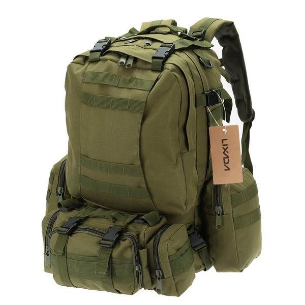 Lixada Military Tactical Backpack Rucksack Climbing Bag Outdoor Cycling Bag with MOLLE Webbings Sports Camping Travel Hiking Bag