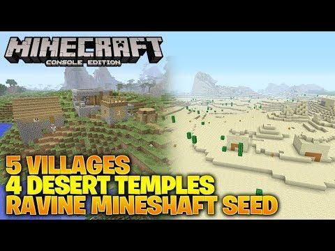 Minecraft Xbox One/PS4 TU66 Seed 5 Villages 4 Desert Temples