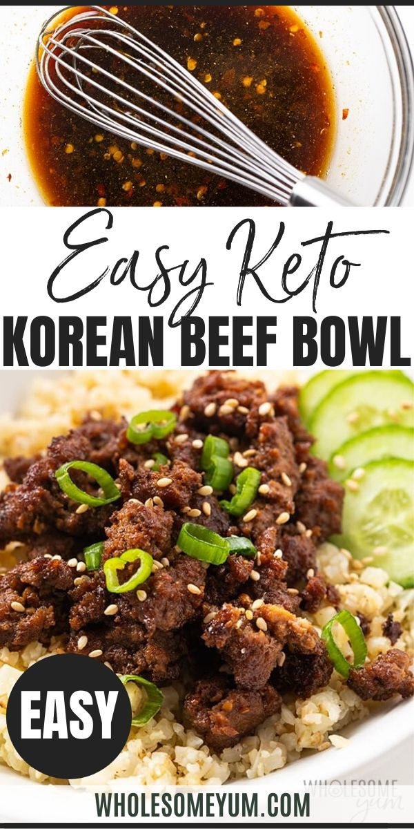 Easy Keto Korean Ground Beef Bowl Recipe In 2020 Beef Bowl Recipe Ground Beef Bowl Recipe Ground Beef Recipes Easy