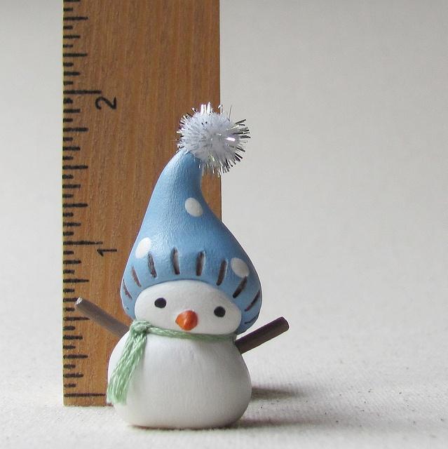 tiny clay snowman