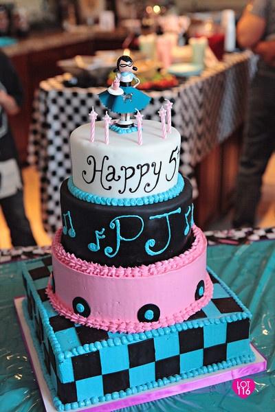 50 S Sock Hop Custom Cake Topper Fresh Cakes