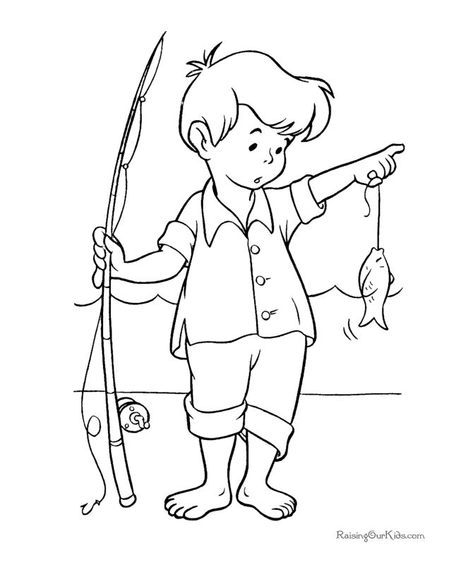 Printable Fish Coloring Pictures 032 Pages 2 Color Coloring