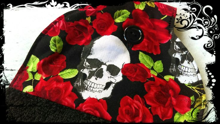 Skulls and roses hand towel. www.cathandbec.com