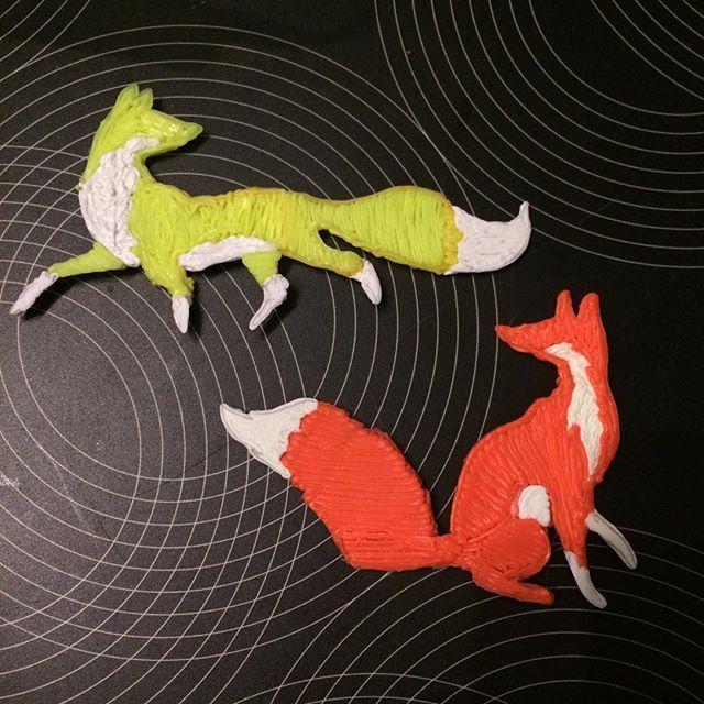 What does the fox say?! Plastic art #3doodler @3doodler