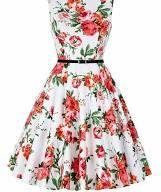 GRACE KARIN A-Line 1950 Retro Dresses for Women with Belt Size 2X F-21 www.amazo…