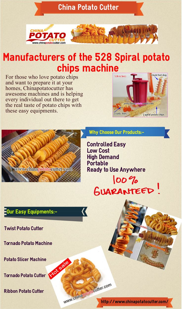 China Potato Cutter is the official designer and manufacturer of potatoes machines. Our GrowingChip Potato Twister Cutter is a great product to sell in parks, concessionaries, stadiums and restaurants. It is a unique vegetable slicer to make various dishes such as sweet potato tornado chips, red cabbage slicing, etc.