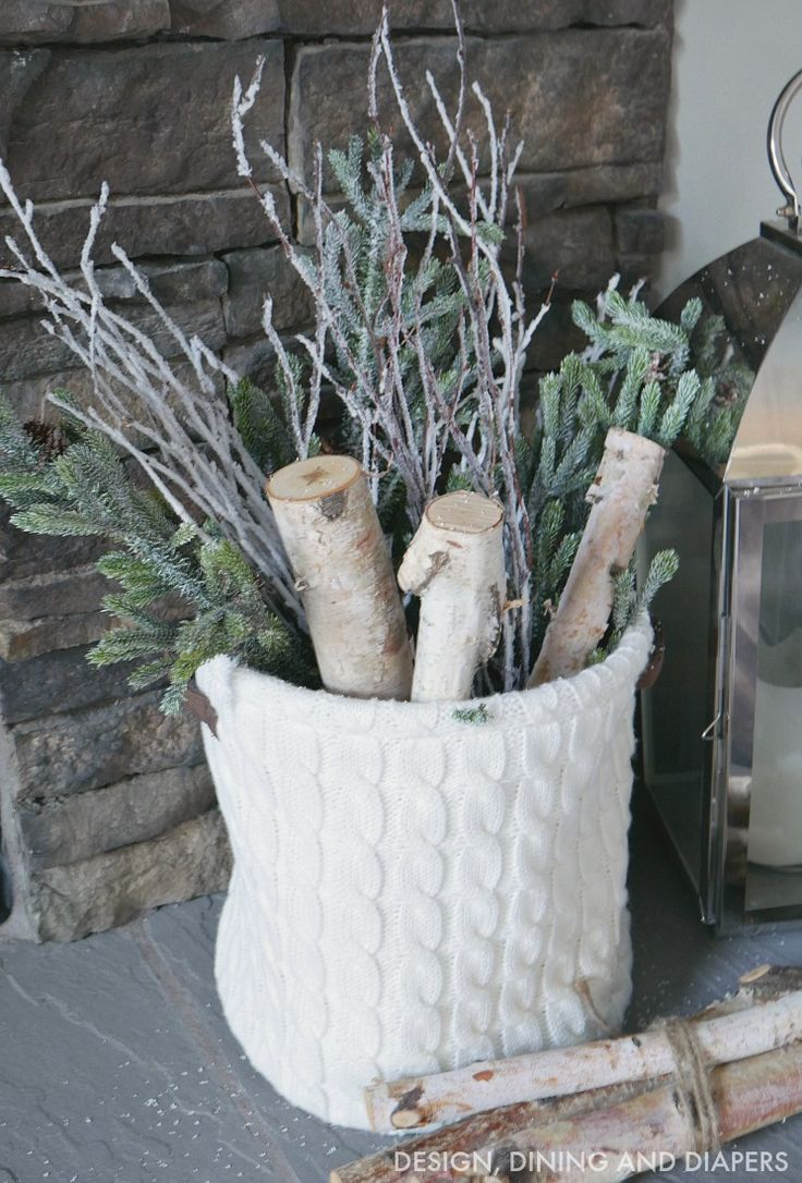 Cozy Winter Mantel cos even you firewood likes to be woolly and warm weekend hygge bolt hole design inspiration