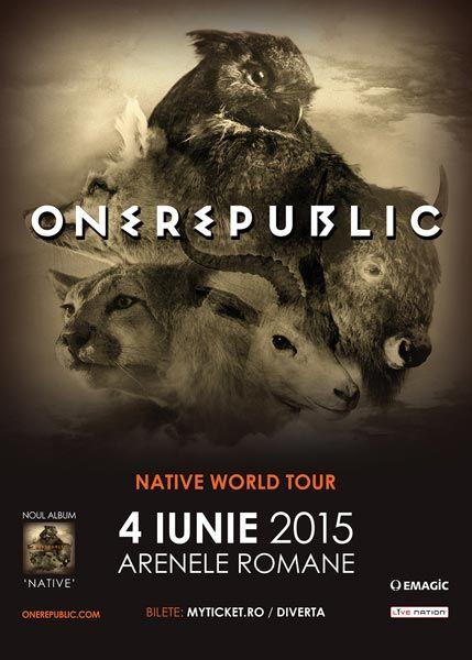 Trupa americană OneRepublic va concerta în premieră la București pe 4 iunie 2015 - Info concert și bilete online la show-ul OneRepublic.