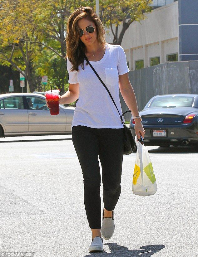 Simply chic: Minka Kelly stepped out in a no fuss look in West Hollywood, California, on Wednesday