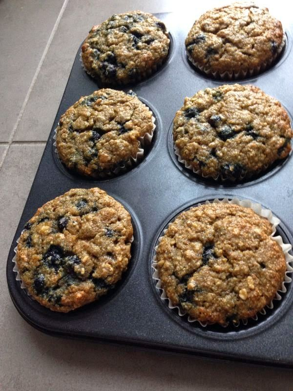 The Spice is Right: Banana Blueberry Kamut Muffins
