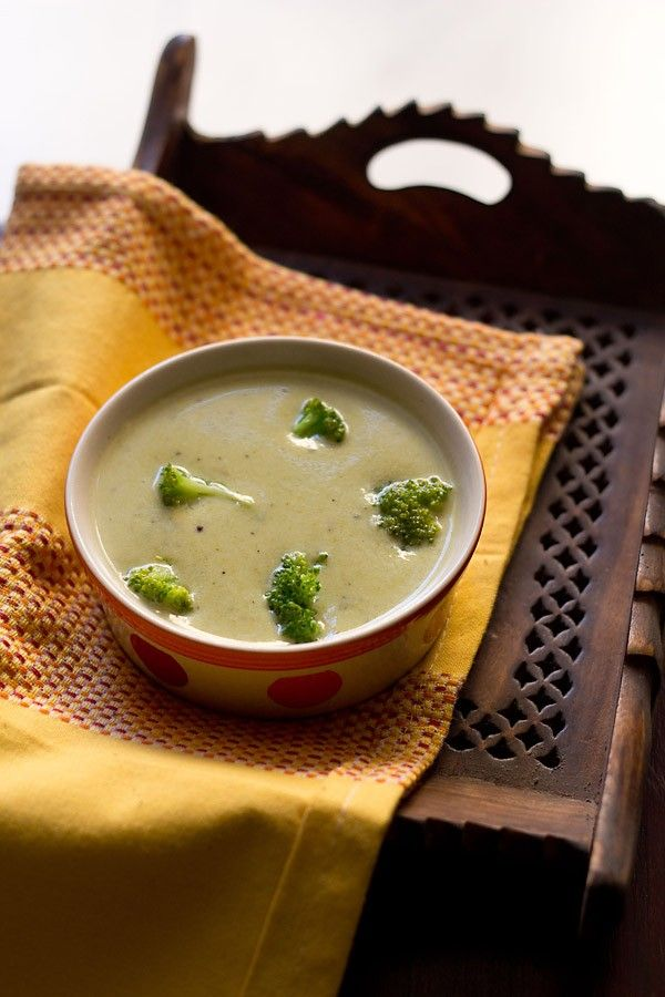 cream of broccoli soup recipe - continuing the series of soups, here is another creamy soup made with broccoli. broccoli soup recipe is similar to cream of mushroom soup recipe.