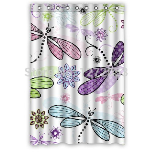 Interesting Dragon Fly Shower Curtain. Cheap curtain polyester  Buy Quality magnet directly from China patterns to sew Suppliers Custom Shower Curtain x Tired of searching a 11 best Dragonflies and Butterflies Decor images on Pinterest
