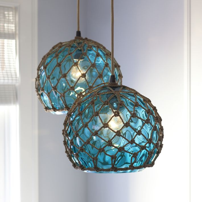 Blue Nautical String Lights : Glass (Japanese) buoy pendant light. Light it Pinterest Pendants, Pb Teen and Fishing