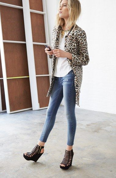 Maison Scotch Coat, James Perse Tee & Hudson Jeans Crop Jeans | Nordstrom