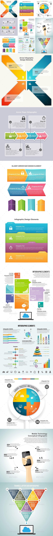 Infographic Set Templates PSD, Vector EPS, AI #design Download…