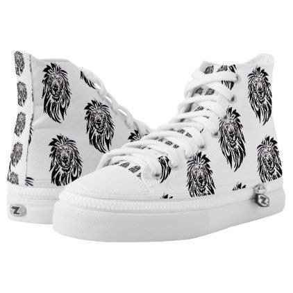 #Lion -zapatillas tipo converse High-Top sneakers - #womens #shoes #womensshoes #custom #cool