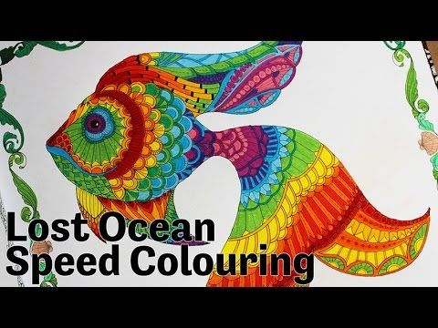 Lost Ocean An Inky Adventure And Colouring Book SPEED COLOURING
